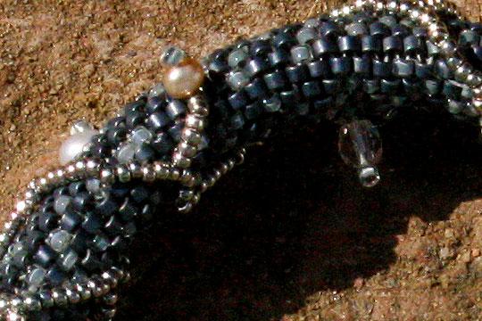 Dark Blue With Vine Detail