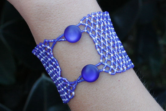 Blue Net Necklace Clasp